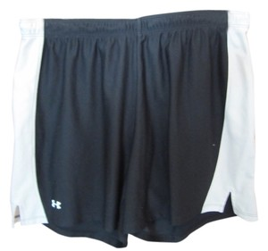 Under Armour Large Excercise Logo Elastic Drawstring Shorts Black