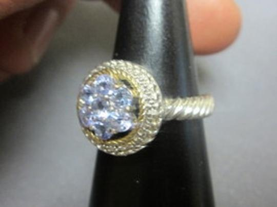 HOUSE OF TANZANITE TANZANITE Round STONE Pave ROPE Cluster RING 925 Sterling SILVER SZ 7 Image 7