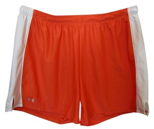 Under Armour Large Orange Logo Shorts Coral