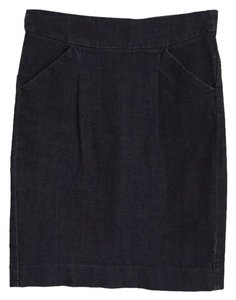 J.Crew Pencil With Pockets Skirt Navy blue, dark jeans