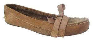 Sperry Moccasin Slippers Leather Brown Flats