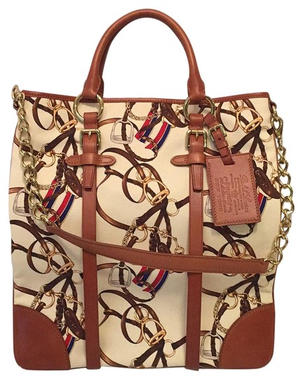 Preload https://img-static.tradesy.com/item/17681923/ralph-lauren-collection-cream-multi-canvas-and-leather-tote-0-1-540-540.jpg