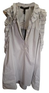 BCBGMAXAZRIA short dress White/blue Bcbg Bcbg Longblouse on Tradesy