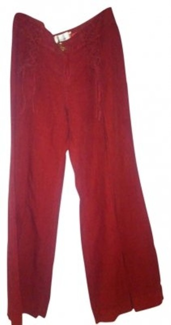 Elevenses Wide Leg Pants Red orange