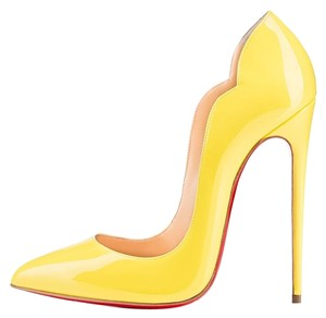 Christian Louboutin Hot Fmp Ultra High Sexy Yellow Pumps