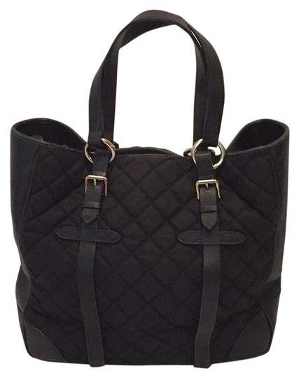 Preload https://img-static.tradesy.com/item/17682118/ralph-lauren-collection-black-leather-and-canvas-tote-0-1-540-540.jpg