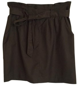 Banana Republic Belted Lined Skirt Olive green
