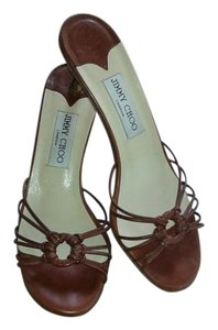 Jimmy Choo Sandal Sexy Strappy Brown Sandals