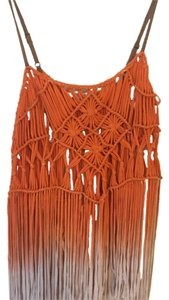 Miss Me Top Orange/cream