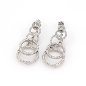 Roberto Coin Roberto Coin 2.00ct Pave Diamonds Multi Hoop 18k White Gold Dangle Earrrings