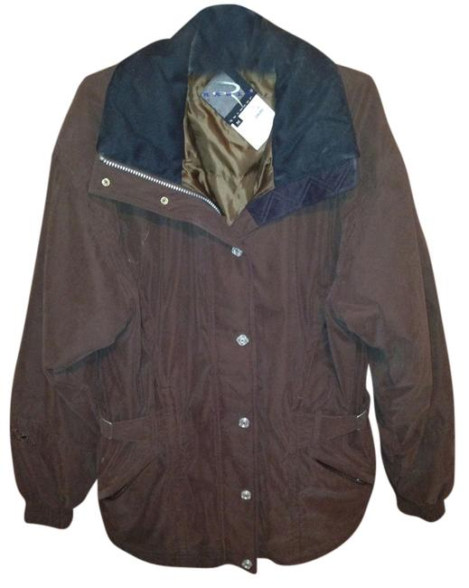 Preload https://item3.tradesy.com/images/rawi-skiwear-brown-with-black-collar-coat-1768262-0-0.jpg?width=400&height=650