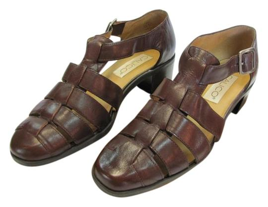 Preload https://img-static.tradesy.com/item/17682934/calico-brown-leather-very-good-condition-sandals-size-us-8-narrow-aa-n-0-1-540-540.jpg