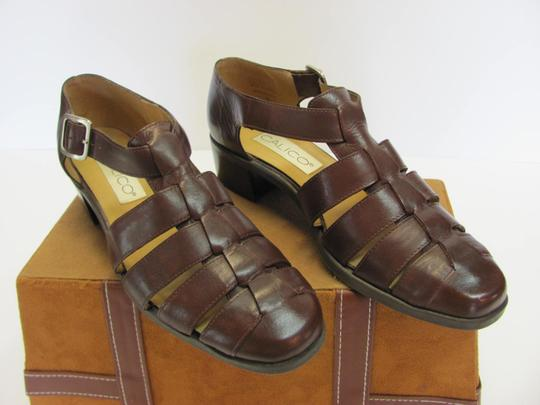 Calico Size 8.00 Narrow Leather Very Good Condition Brown Sandals Image 1