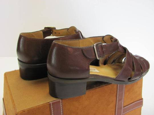 Calico Size 8.00 Narrow Leather Very Good Condition Brown Sandals Image 2