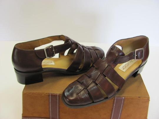 Calico Size 8.00 Narrow Leather Very Good Condition Brown Sandals Image 3