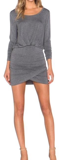 Preload https://item3.tradesy.com/images/bella-luxx-steel-grey-shirred-long-sleeve-mini-short-casual-dress-size-4-s-1768317-0-2.jpg?width=400&height=650