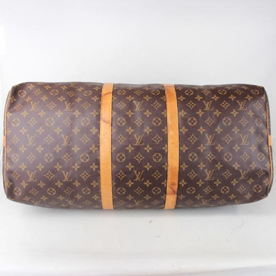 Louis Vuitton Keepall Luggage Bandouliere Brown Monogram Travel Bag