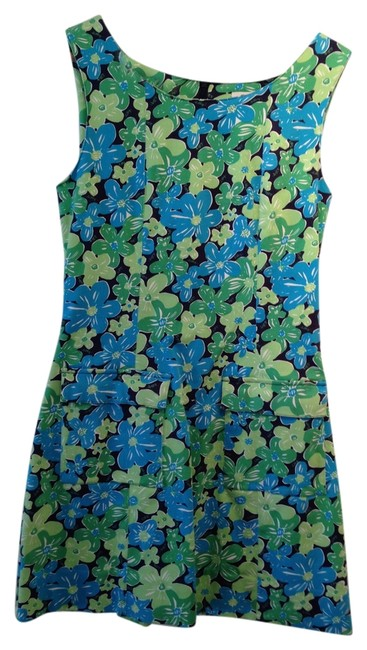 Lilly Pulitzer short dress multi blue and green on Tradesy