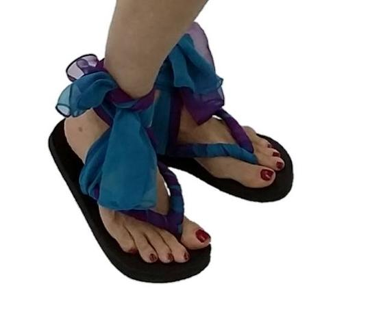 SensationWear Magenta and Turquoise Ombre Sandals
