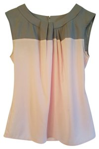 New York & Company With Tags Color-blocking Top pink and gray