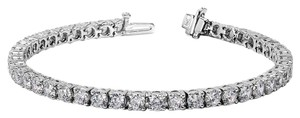 Avi and Co 7.00 cttw Round Brilliant Cut Diamond Tennis Bracelet 14K White Gold