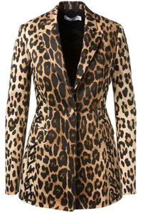 Altuzarra New ALTUZARRA Merrie lace-up Brown black leopard-print Blazer JACKET Coat 36