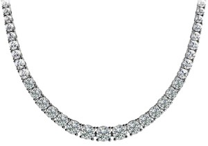 Avi and Co 7.00 cttw Round Cut Diamond Graduated Tennis Necklace F-G/VS-SI 14K White Gold
