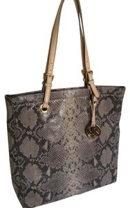 Michael Kors Leather Tote in Grey Snake