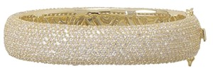 Other NEW 14 Karat Gold Plated Hinged CZ Bangle