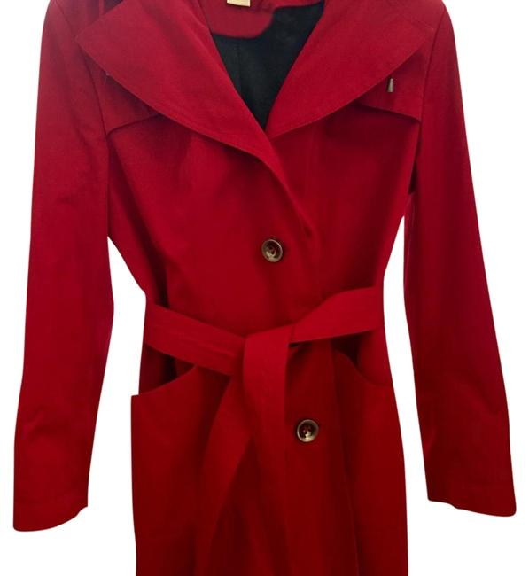 Preload https://item5.tradesy.com/images/michael-kors-red-trench-coat-size-16-xl-plus-0x-1768654-0-2.jpg?width=400&height=650