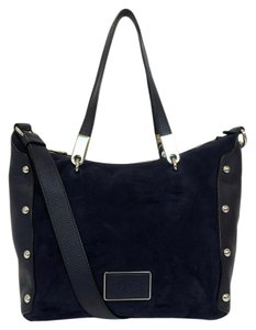 Marc Jacobs Ligero Suede Satchel in Navy Blue