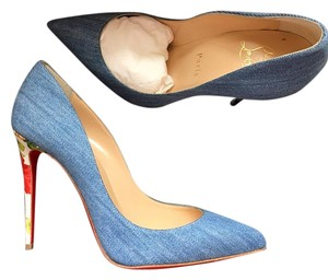Christian Louboutin Pigalle Follies Blue Pumps