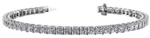 Avi and Co 7.50 cttw Princess Cut Diamond Prong Set Tennis Bracelet 14K White Gold