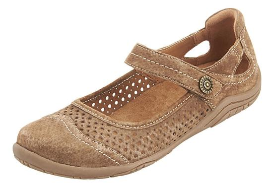 Easy Spirit Suede Leather Casual Tan Flats
