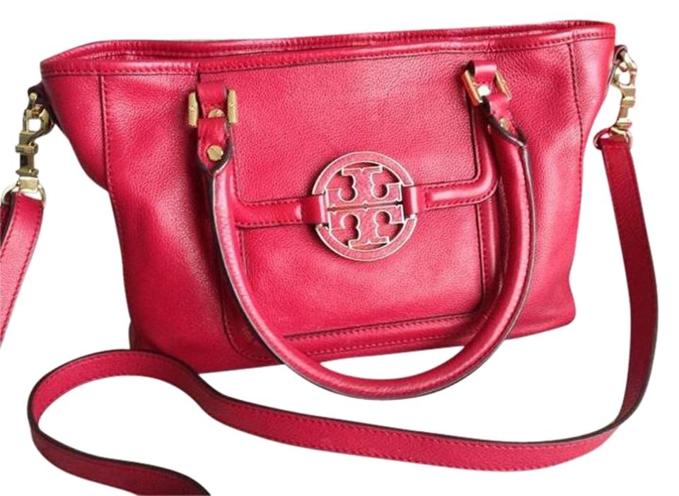 c30e82b2f8c Tory Burch Leather Amanda Crossbody Satchel in Deep Red Image 0 ...