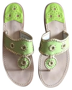 Jack Rogers Lime and gold Sandals