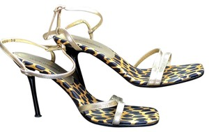 Dolce&Gabbana Vintage Evening Leopard Gold Sandals
