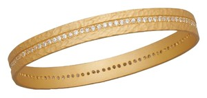 14 Karat Gold Plated Sterling Silver With CZ Eternity Bangle