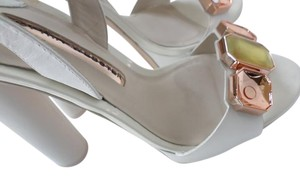 Sophia Webster White w/Multicolor stones Platforms