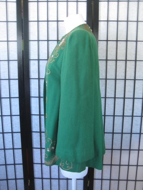 Saks Fifth Avenue Old Hollywood Hollywood Glamour Black Tie Formal 40s green Jacket