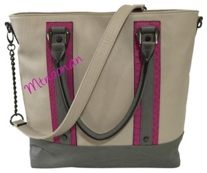 Steve Madden Tote in Bisque Pink Gray