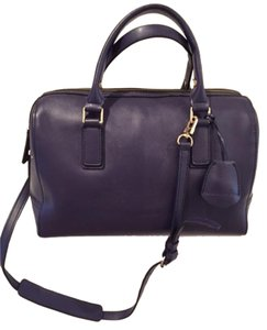 BCBGMAXAZRIA Purple Navy Satchel in Purple/Navy