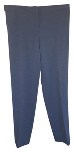 Theory Padra Cropped Size 8 Twill Capri/Cropped Pants Navy