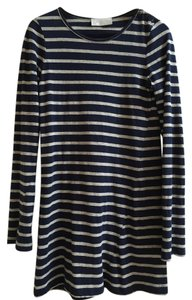 A.L.C. short dress Navy and Gray Striped A-line T-shirt on Tradesy