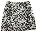 Ann Taylor LOFT Vintage Suede Mini Party Mini Skirt Black and Cream Animal Print Image 0