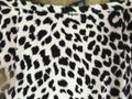 Ann Taylor LOFT Vintage Suede Mini Party Mini Skirt Black and Cream Animal Print Image 3