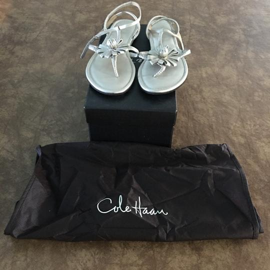 Cole Haan White gold Metc Sandals Image 4