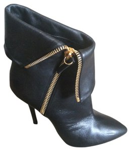 Giuseppe Zanotti Black with gold zipper Boots