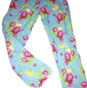 Betsey Johnson Relaxed Pants Blue pink
