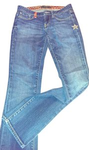 Lucky Brand New Star Details Straight Leg Jeans-Dark Rinse